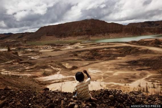 gold mining, mercury, deforestation, human impact