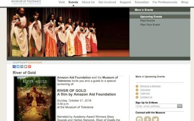 Museum of Tolerance hosts Amazon Rainforest curriculum workshop & River of Gold Screening